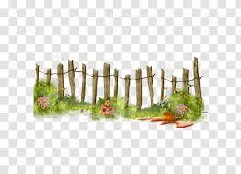Fence Flower Garden Clip Art Grass Gardening Clipart Transparent Png