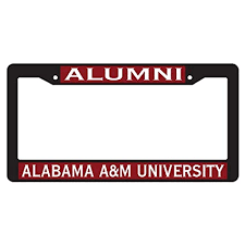 Alumni License Plate Covers Frames Desert Cactus Alabama A M University Alumni Bulldogs Metal License Plate Frame For Front Back Of Car Officially Licensed Itrainkids Com