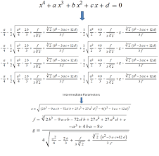 polynomial equations of 4th degree