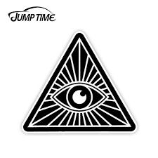 Jumptime 13cm X 13cm For All Seeing Eye Illuminati Nwo Vinyl Decal Funny Sticker Car Truck Window Decal Bumper Car Accessories Car Stickers Aliexpress