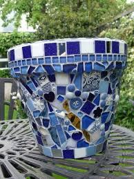 mosaics garden pots