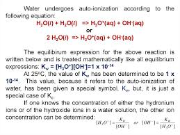 autoionization of water hydrolysis of