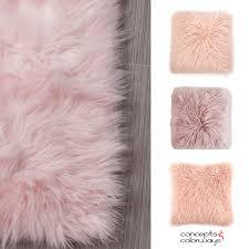 blush pink sheep skin concepts and