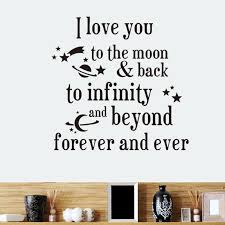 I Love You To The Moon Back Quote Wall Stickers 8261 Wall Decals Home Decor Wallpaper Mural Wedding Decoration Decor Wallpaper Wall Decalswall Sticker Aliexpress