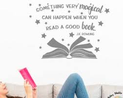 Book Wall Decal Etsy