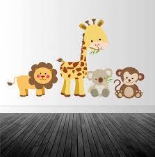 Jungle Animal Wall Decal Nursery Wall Decal Animal Wall Decal Baby S Room Decor Vinyl Wall Decals Home Decor Art Baby Animal Decals