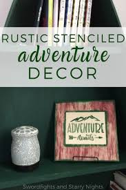 Rustic Stenciled Adventure Decor Swordfights And Starry Nights