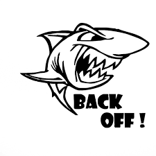 Back Off Large Ferocious Marine Animals Shark Car Stiker For Motorhome Wall Rv Minicab Suv Window Motorcycles Door Laptop Car Decor Waterproof Reflective Vinyl Decal 10 Colors Wish