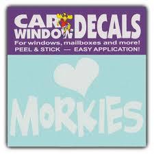 Car Window Decals I Love Morkies Designer Dogs Stickers Cars Trucks Glass 4 5 Wide Wish