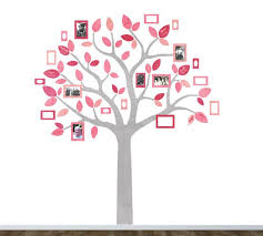 Family Tree Fabric Wall Decals Tree And Photo Frame Wall Decals Eco Wall Decals