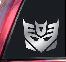 Transformers Decepticon Vinyl Decal Sticker Shiny Chrome Daniel C Andersonet
