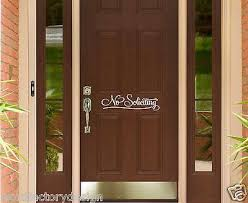 No Soliciting Vinyl Wall Decal Sticker Sign For Front Door Simple And Word Factory Design