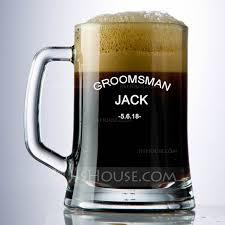 classic glass beer mug