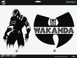 Black Panther Vinyl Decal Set Of 2 Stand And Wutang Sticker Car Truck Window Ebay
