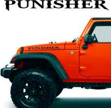 Punisher Jeep Hood Decals Fits Wrangler Renegade Tj Jk Xj Yj Cj Ebay