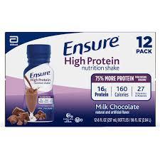 ensure high protein nutritional shake