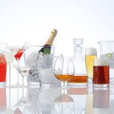champagne bucket clear handmade glass