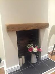 solid oak fireplace mantel beam