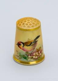 Eight early Royal Worcester porcelain thimbles — Park View Antiques