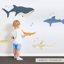 Shark Wall Decal Kit Shark Wall Stickers Wallums