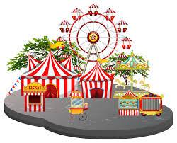 Fun fair scene white background - Download Free Vectors, Clipart Graphics &  Vector Art