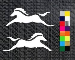 Multicolor Tvs Horse Logo Sticker Set Of 2 Rs 120 Pair Maya Stickers Id 21767593762
