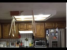 remove fluorescent ceiling light box