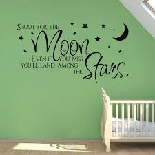 Sale On Ebay Shoot For The Moon Stars Quote Wholesale Wall Stickers For Kids Room Decor Baby Boy Wall Decals Free Shipping Q0222 Sticker For Kids Room Boys Wall Decalsstickers For Aliexpress