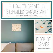 how to create stenciled canvas art