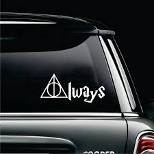 Harry Potter Car Decal Harry Potter Always Decal By Kkdcustomized On Etsy Harry Potter Car Awesome Car Decals Car Decals