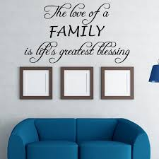 The Love Of A Family Vinyl Wall Decal Quotes Home Sticker Decor Walmart Com Walmart Com