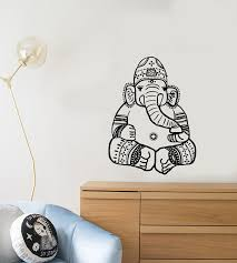 Vinyl Wall Decal Cartoon Ganesha God Elephant Hinduism India For Kids Wallstickers4you