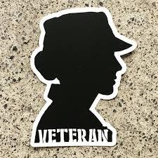 Woman Veteran Magnet Awv Gear
