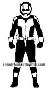 White Antman 6 Vinyl Decal Rebel Rd Auth