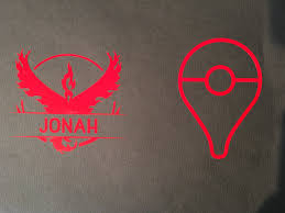 Personalized Pokemon Go Decal Team Mystic Team Valor Team Instinct New Outdoor Vinyl Sold By Hapa Designs On Storenvy