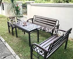 outdoor furniture bench chair set