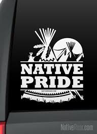 Native Pride Teepee And Moon Native American Decal Customize Etsy
