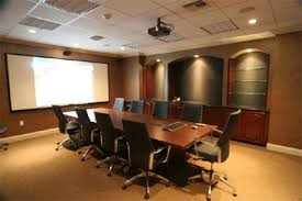 Original look to a meeting room setup. | Conference room design