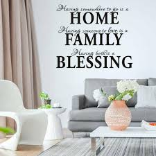 Home Family Blessing Quotes Art Wall Stickers Living Room Bedroom Decals Us New For Sale Online