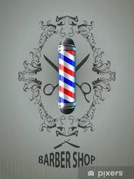 Vector Illustration Barber Poles Barber Shop Sticker Pixers We Live To Change