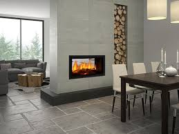 double sided inbuilt wood heater
