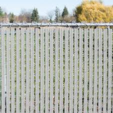 5 H X 10 L White Wave Slat Single Wall Privacy Chain Link Fence Slats