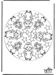 Kerst Mandala 1 Kleurplaten Kerst