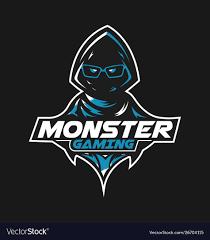 monster gaming mascot logo design for