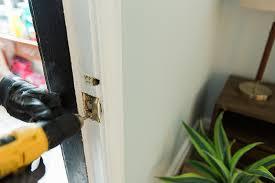 how to install an interior slab door