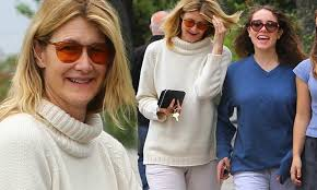 Laura Dern keeps it casual in sweatpants for a morning date with ...