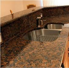 Hot Sale China Baltic Brown Granite Countertop With Drainboard And ...