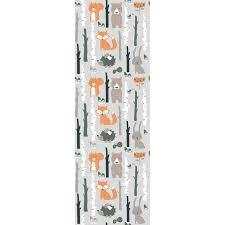 Zoomie Kids Ozzie Removable Nursery Room Fox Bear 8 33 L X 25 W Peel And Stick Wallpaper Roll Wayfair