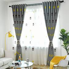 Big Sale 7571 Children S Room Shading Modern Nordic Cartoon Embroidered Curtain Finished Bedroom Floating Mediterranean Curtain Cicig Co