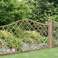 1 8m X 0 9m Pressure Treated Decorative Europa Hamburg Garden Screen Forest Garden